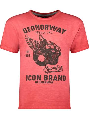 """Geographical Norway Koszulka """"Jarley"""" w kolorze czerwonym"""