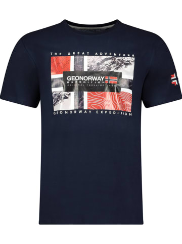 """Geographical Norway Koszulka """"Jeologic"""" w kolorze granatowym"""