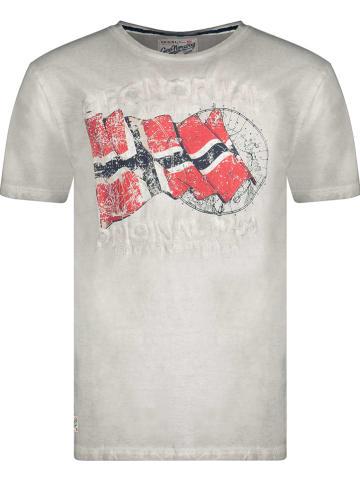 """Geographical Norway Koszulka """"Japoral"""" w kolorze szarym"""