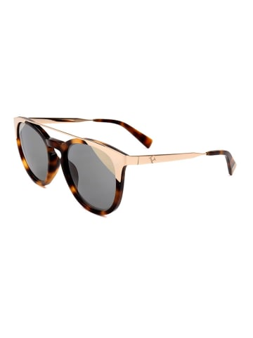 Furla Damen-Sonnenbrille in Braun-Gold/ Grau