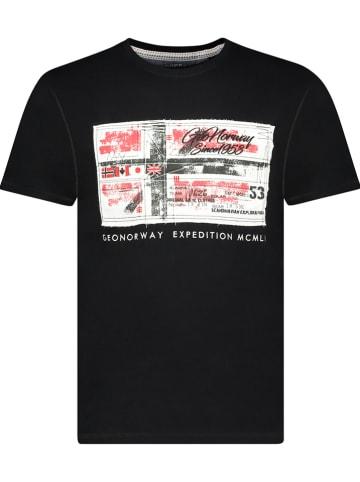 """Geographical Norway Koszulka """"Jiname"""" w kolorze czarnym"""