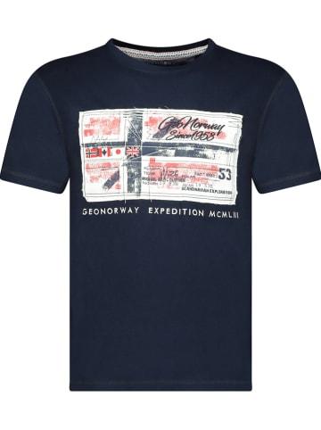 """Geographical Norway Koszulka """"Jiname"""" w kolorze granatowym"""