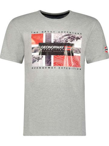"""Geographical Norway Koszulka """"Jeologic"""" w kolorze szarym"""