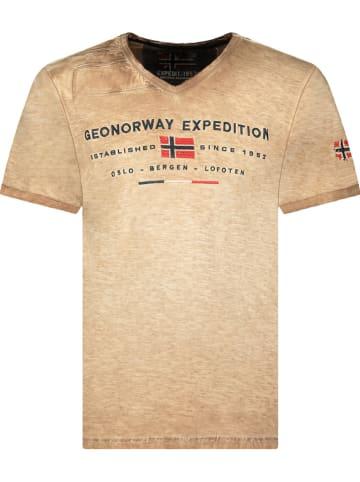 """Geographical Norway Koszulka """"Jiwash"""" w kolorze beżowym"""
