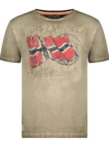 """Geographical Norway Koszulka """"Japoral"""" w kolorze khaki"""