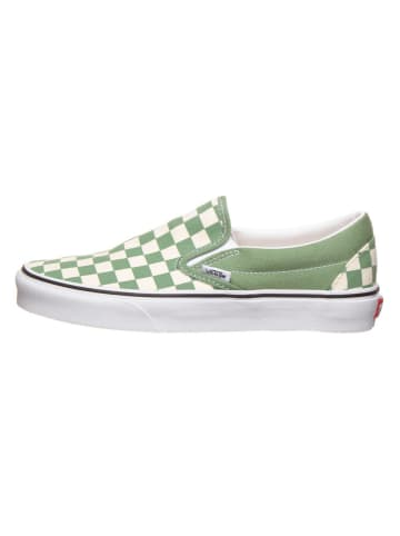 "Vans Instappers ""Classic Slip-On"" groen/crème"