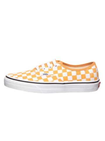 """Vans Sneakersy """"Authentic"""" w kolorze biało-pomarańczowym"""