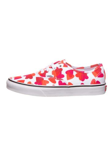 """Vans Sneakersy """"Authentic"""" w kolorze biało-czerwonym"""