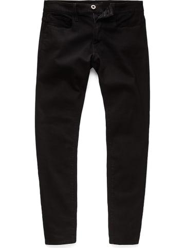 """G-Star Dżinsy """"3301"""" - Skinny fit - w kolorze czarnym"""