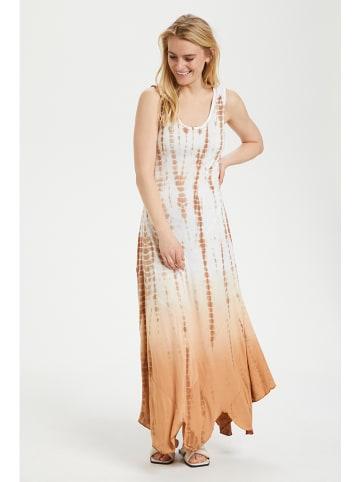 """Cream Sukienka """"Batila"""" w kolorze biało-jasnobrązowym"""