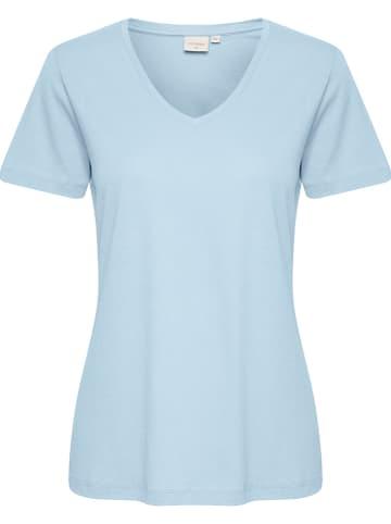 """Cream Shirt """"Naia"""" in Hellblau"""
