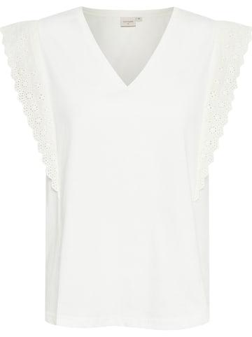 """Cream Shirt """"Sanal"""" in Weiß"""