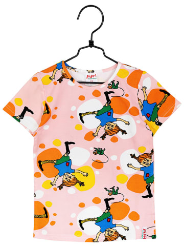 Pippi T-shirt w kolorze jasnoróżowym ze wzorem