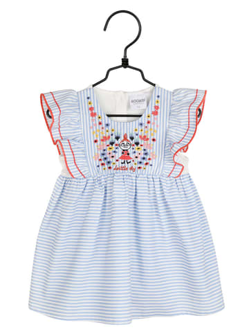 Pippi Sukienka w kolorze biało-jasnoniebieskim ze wzorem