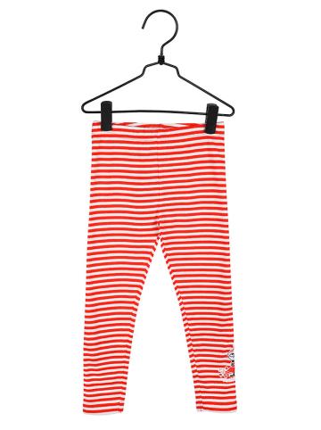 Moomin Legginsy w kolorze biało-czerwonym