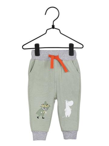 Moomin Spodnie w kolorze oliwkowo-szarym