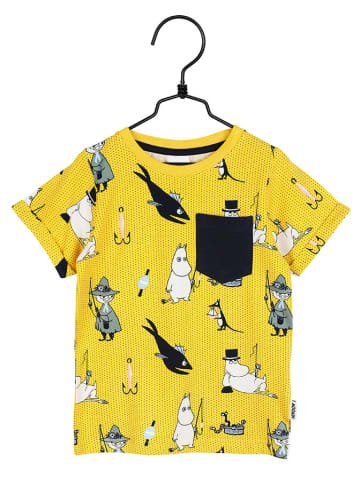 Moomin T-shirt w kolorze żółtym ze wzorem