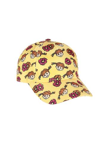 Pippi Czapka w kolorze żółtym ze wzorem
