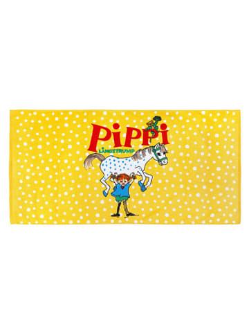Pippi Ręcznik w kolorze żółtym ze wzorem - (D)140 x (S)70 cm