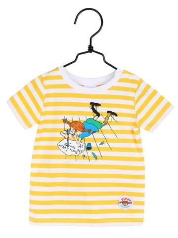 Pippi T-shirt w kolorze żółtym ze wzorem