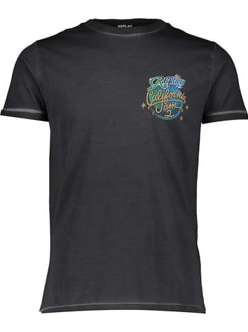 Replay Koszulka w kolorze czarnym