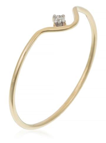 """DIAMANTA Gouden ring """"Pudeur"""" met diamant"""