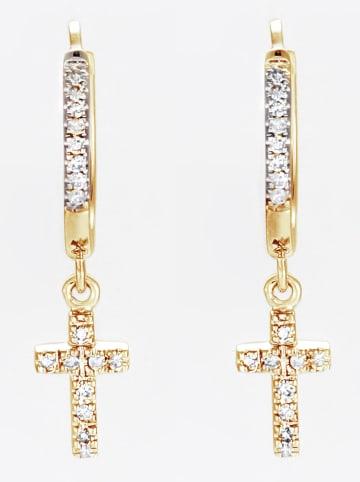 DIAMANTA Gouden oorhangers met diamanten