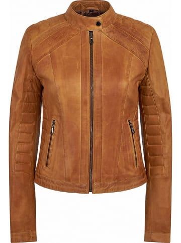 Roccoban Skórzana kurtka w kolorze karmelowym
