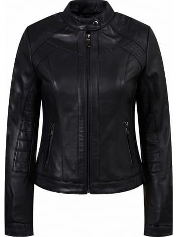Roccoban Leren jas zwart
