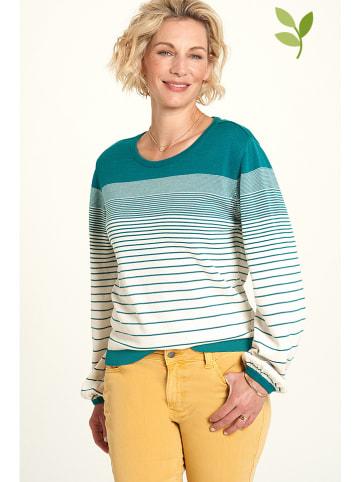"""Tranquillo Sweter """"Peggy"""" w kolorze morsko-kremowym"""