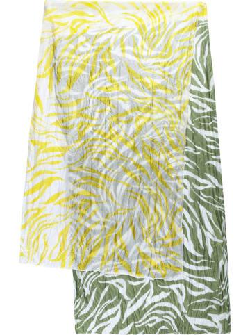 Codello Jedwabna chusta w kolorze żółto-zielonym - 180 x 55 cm