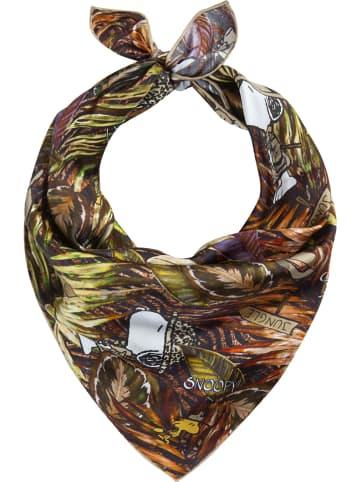 Codello Jedwabna chusta w kolorze ciemnobrązowym - 53 x 53 cm