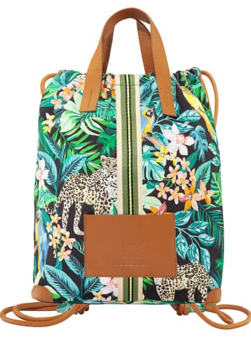 Codello Plecak w kolorze zielonym ze wzorem - 32 x 42 x 17 cm