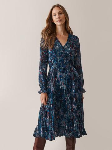 TATUUM Sukienka w kolorze niebieskim ze wzorem