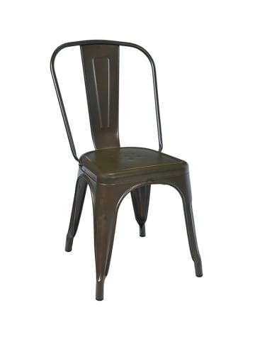 Novita Stoel grijs/bruin - (B)45 x (H)85 x (D)35 cm