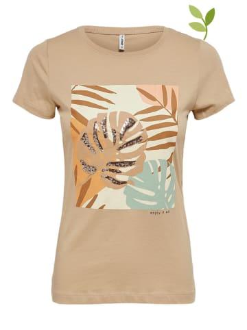 """ONLY Koszulka """"Maya"""" w kolorze beżowym"""