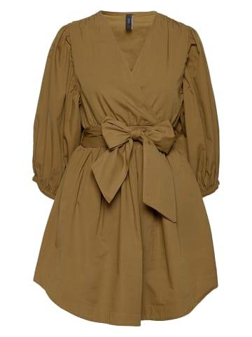 """Y.A.S Sukienka """"Ermi"""" w kolorze jasnobrązowym"""