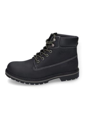 DOCKERS Leder-Boots in Schwarz