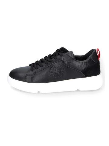 DOCKERS Leren sneakers zwart