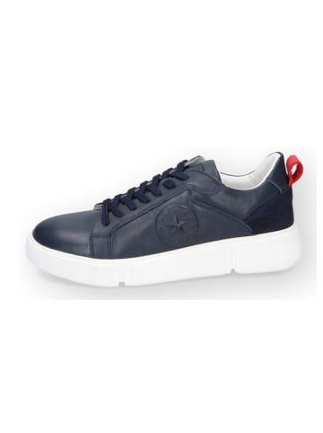 DOCKERS Leren sneakers donkerblauw
