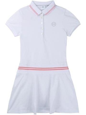 Hugo Boss Kids Sukienka polo w kolorze białym
