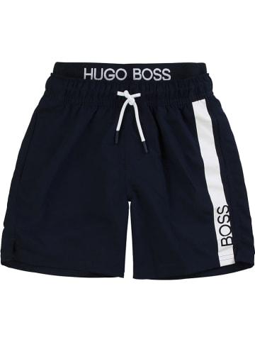 Hugo Boss Kids Szorty kąpielowe w kolorze granatowym