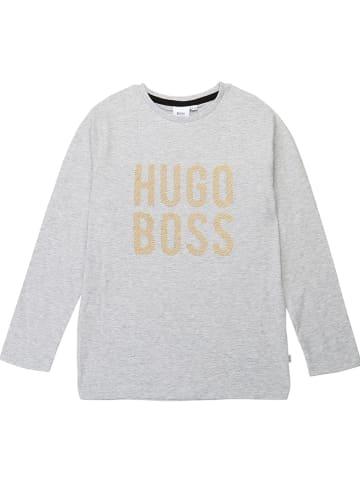 Hugo Boss Kids Koszulka w kolorze szarym