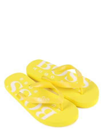 Hugo Boss Kids Japonki w kolorze żółtym