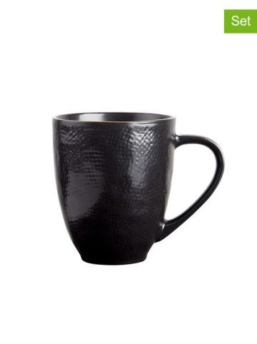 Novita Kubek (2 szt.) w kolorze czarnym - (W)12 x Ø 9,5 cm