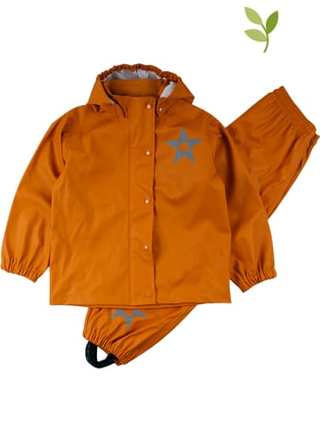 Fred´s World by GREEN COTTON 2-delige regenoutfit oranje