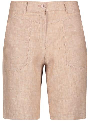 Gerry Weber Lniane szorty w kolorze beżowym