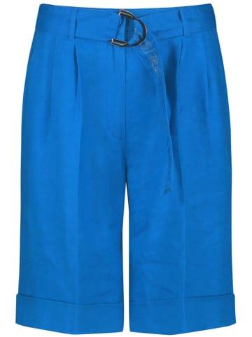 TAIFUN Lniane bermudy w kolorze niebieskim
