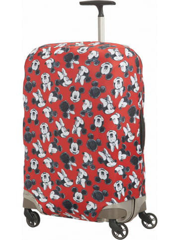 """Samsonite Pokrowiec """"Mickey Mouse M"""" w kolorze czerwonym na walizkę"""
