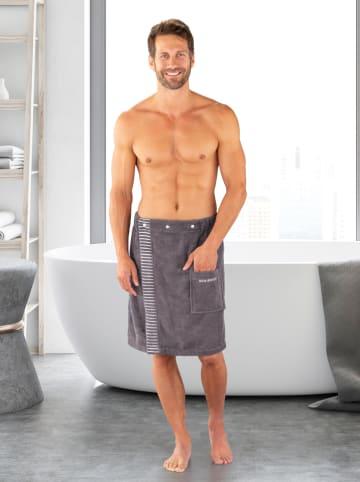 """Schiesser Ręcznik """"Rom"""" w kolorze antracytowym do sauny"""